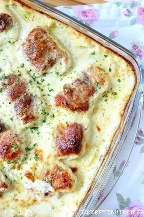 Rezepte mit Herz ♥: Putenröllchen in Frischkäsesoße #creamcheeserecipes