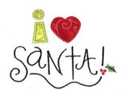 I {Heart} Santa Applique - 2 Sizes!   Christmas   Machine Embroidery Designs   SWAKembroidery.com Kimberbell Kids