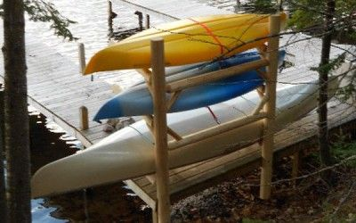 Dockside Kayak Rack 3place Lakehome Storage Cabin A Perfect