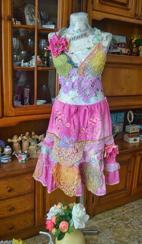 Romantic skirt shabby by irinacarmen on Etsy