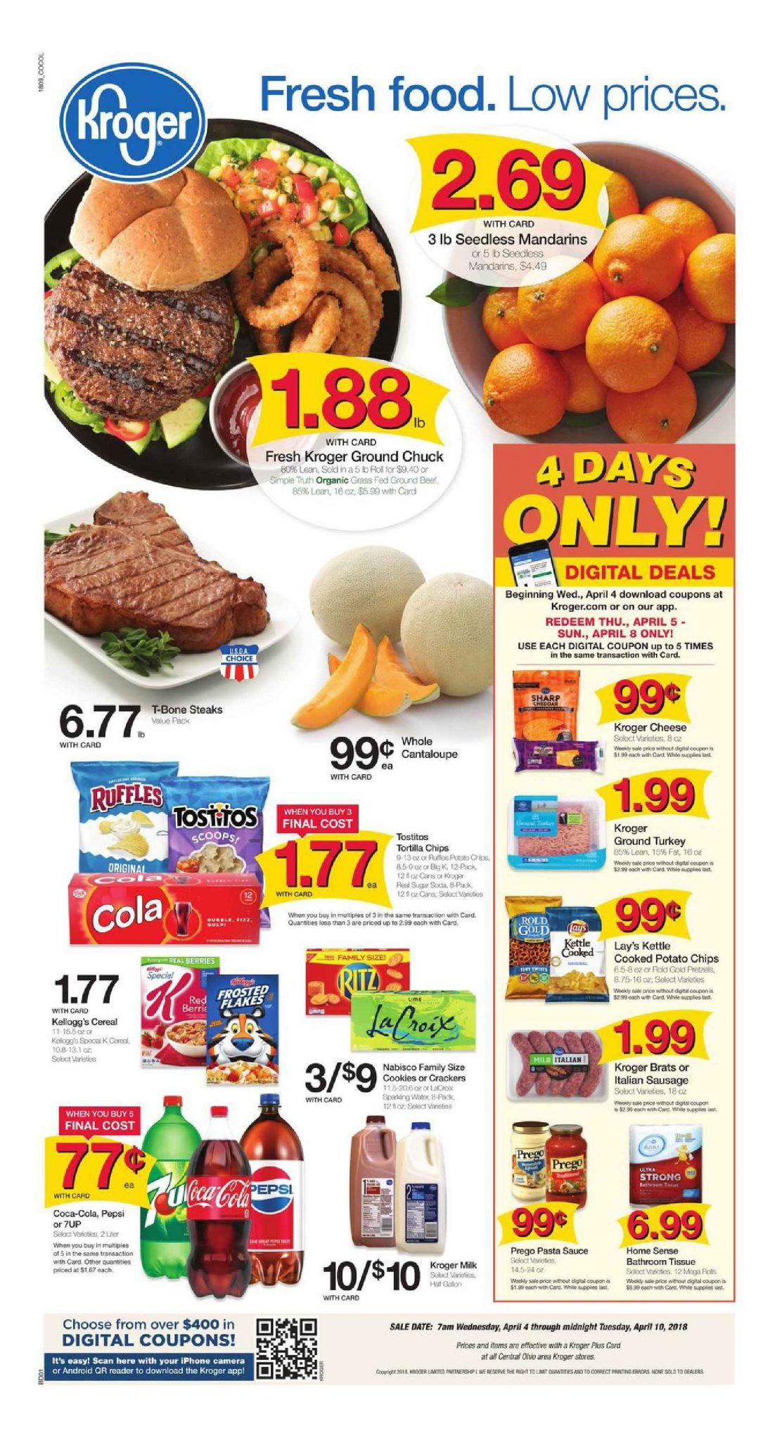 Kroger Weekly Ad Flyer March 11 17 2020 Weeklyad123 Com Kroger Weekly Ads Food Menu