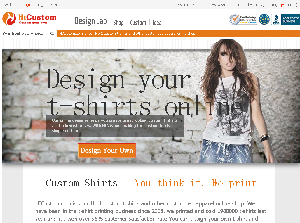 17ad94e5 professional custom web tshirt you design it, we print it. | Nice ...