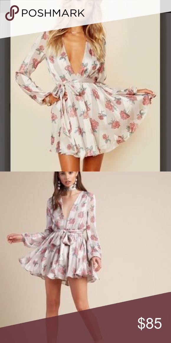 ba717318f3d Lovers + Friends Bouquet print dress with belt Lovers + Friends NWT Bouquet  print dress with