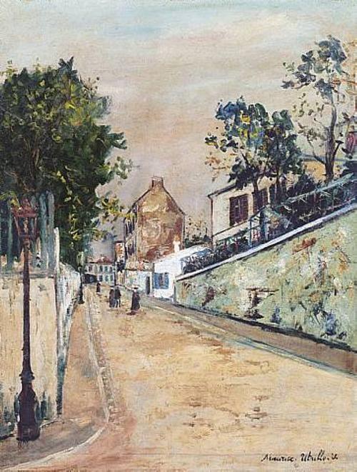 Maurice Utrillo, Norvins Street Near Montmartre, n.d.