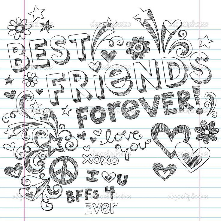 Best Friends Forever Coloring Pages Coloring Pages Pictures Friends Illustration Drawings Of Friends Best Friend Drawings