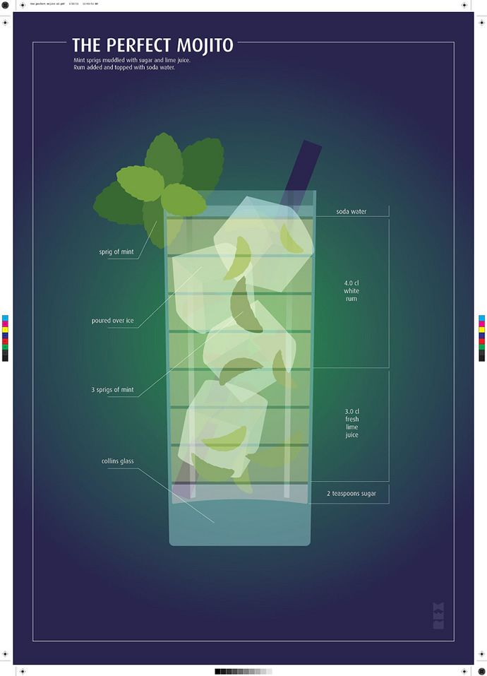 The Perfect MOJITO....Delicious Drinks Illustrations by Fabio Rex