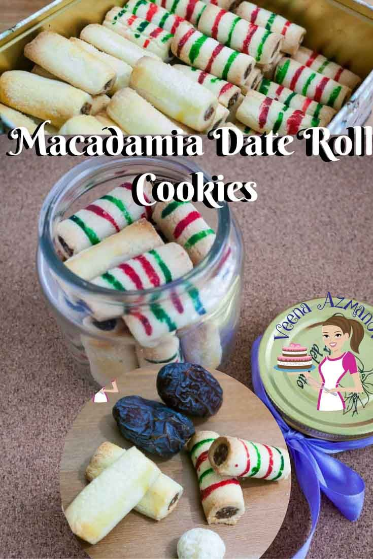 Macadamia Date Rolls Cookies are a Christmas tradition in my family. The sweet and nutty filling wrapped up in butter based cookie dough just melts in the mouth. So delicious you can't stop eating