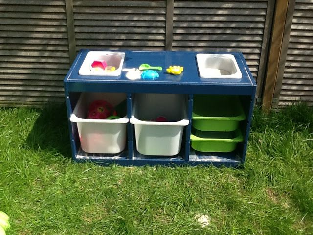outdoor play ikea hackers trofast sand and water table