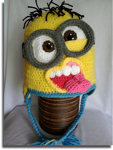 Ravelry: Crazy minion hat pattern by Mistybelle Crochet | YARn: hat ...