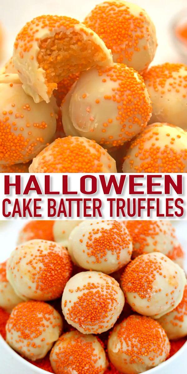 Halloween Cake Balls - Sweet and Savory Meals
