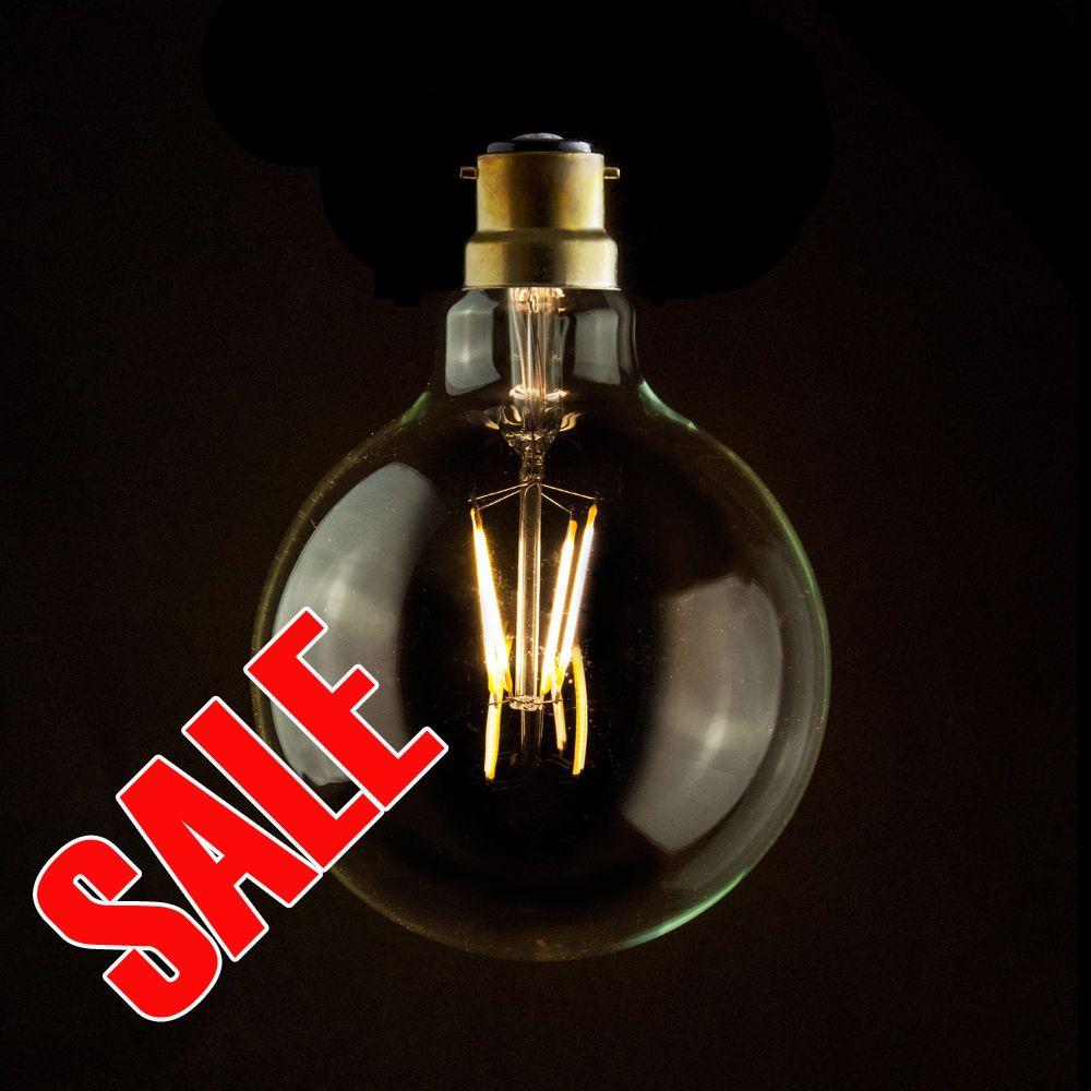 Industrialvintageretro Eco Led Carbon Filament 95mm Clear Globe Lamp Light Bulb Globe Lamps Unique Lighting Bulb