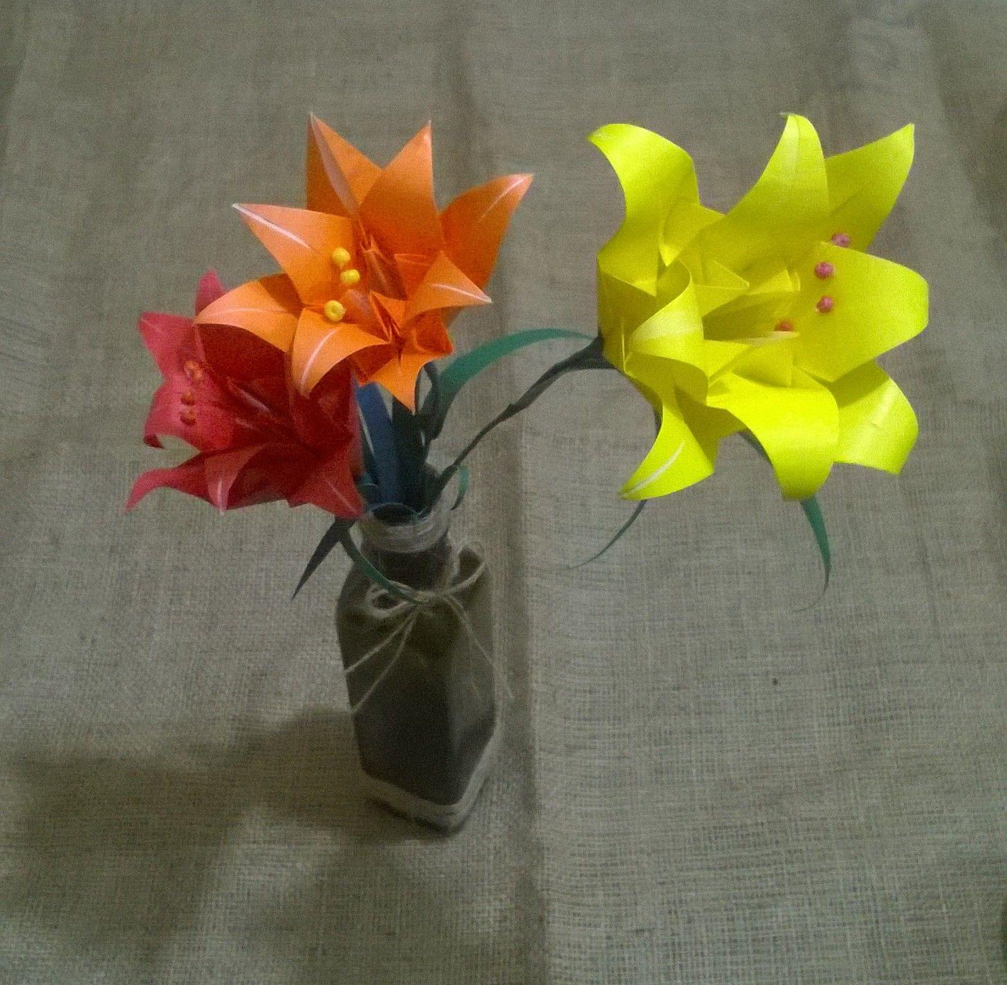 Lirios de origami