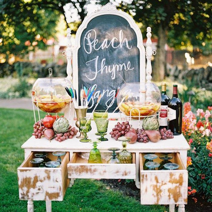Vintage Outdoor Wedding Decorations Ideas: 12 Pretty And Practical Ways To Use A Vintage Dresser In