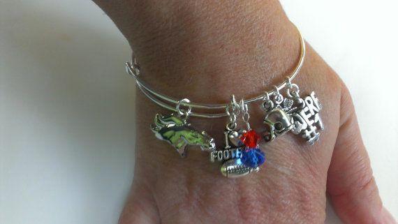 Denver Broncos  Football Alex Ani inspired bangle bracelet bracelet ! Denver Broncos  bracelet !