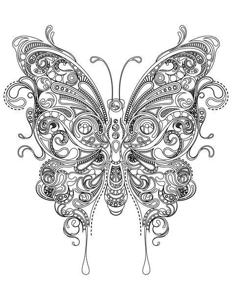 Coloriage Papillon Très Difficile à Imprimer Cricut