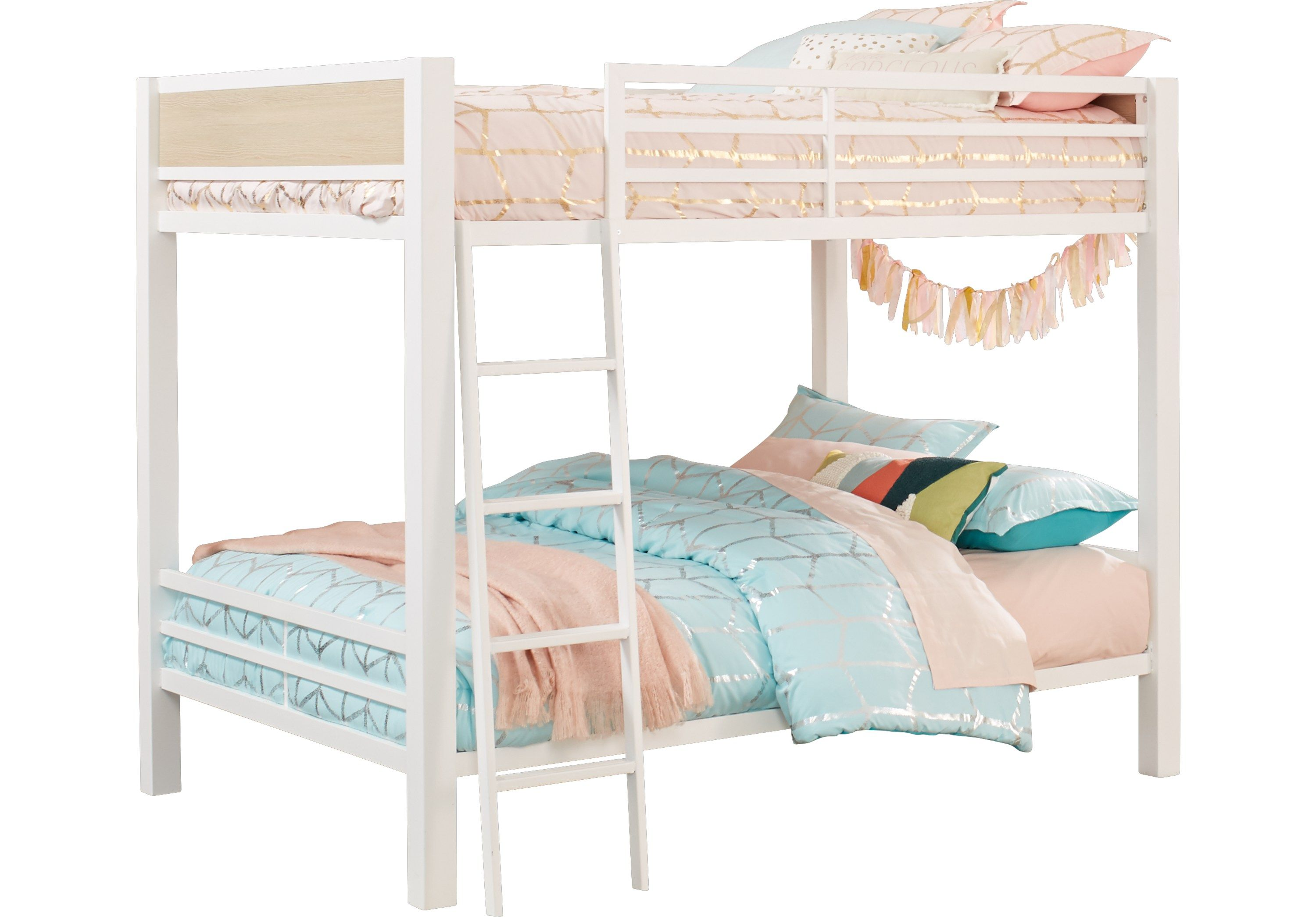 Colefax Avenue White Full Full Bunk Bed Bunk/Loft Beds