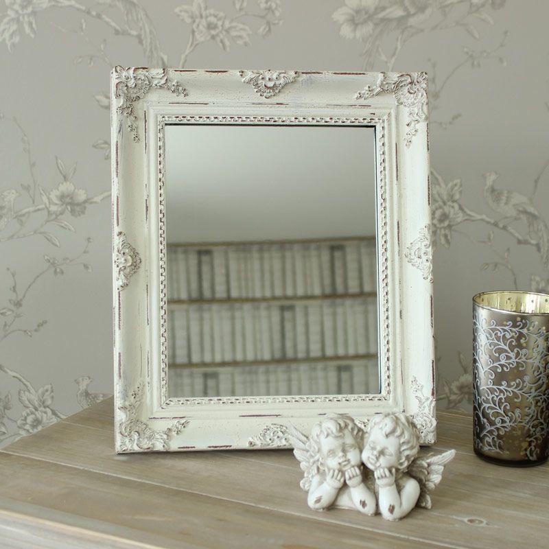 Antique White Table Mirror Mirror Table Mirror French Style Furniture