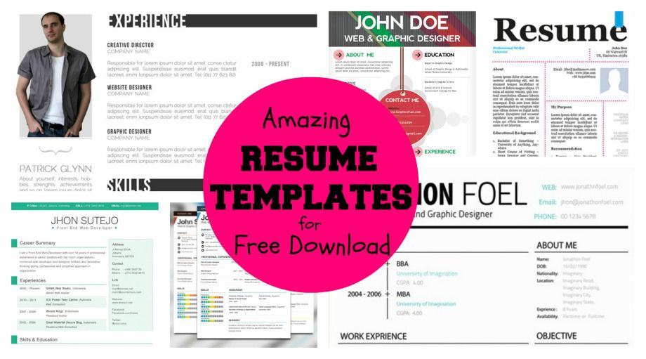 20+ Awesome Designer Resume Templates for Free Download Creative