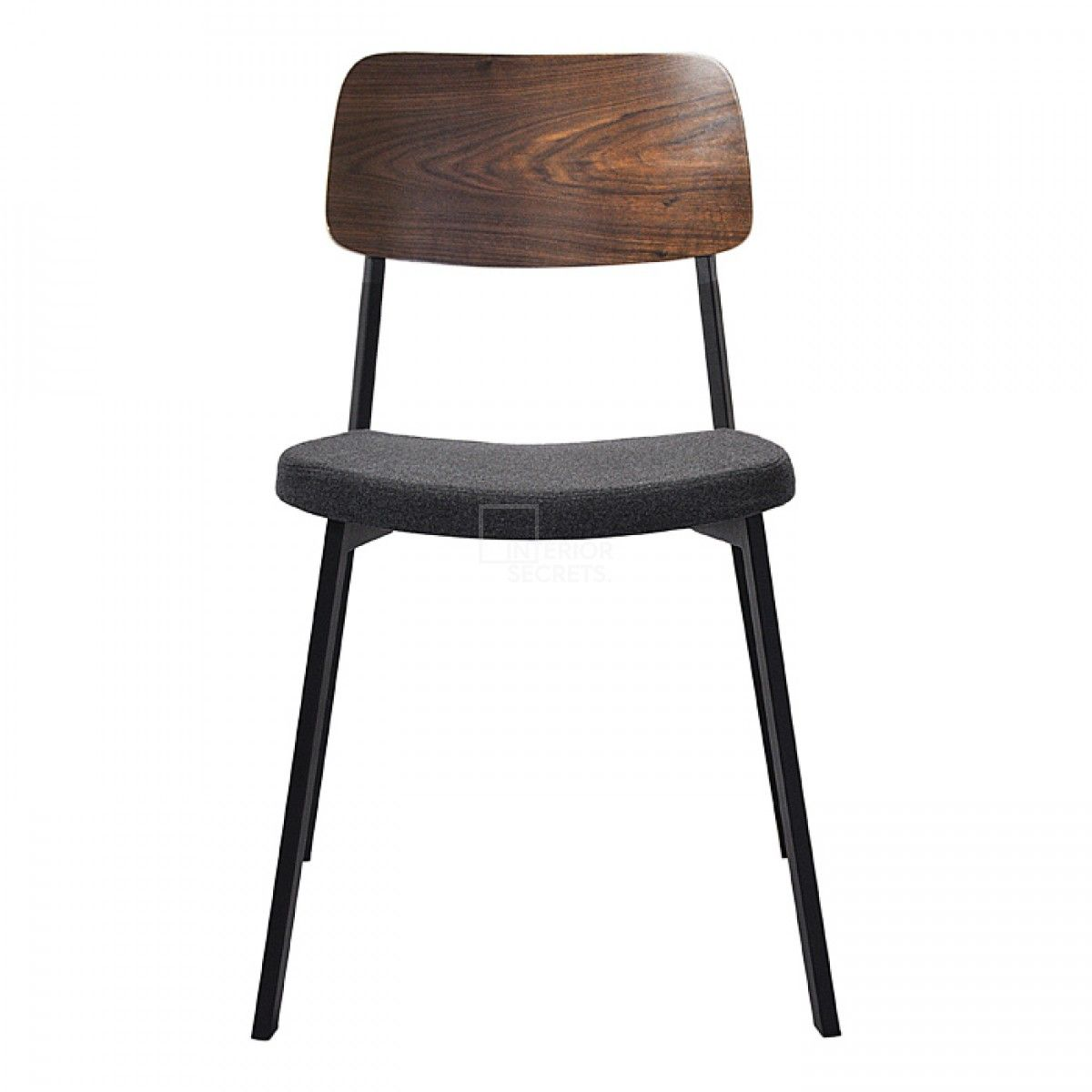 Jersey Industrial Style Dining Chair Black Frame