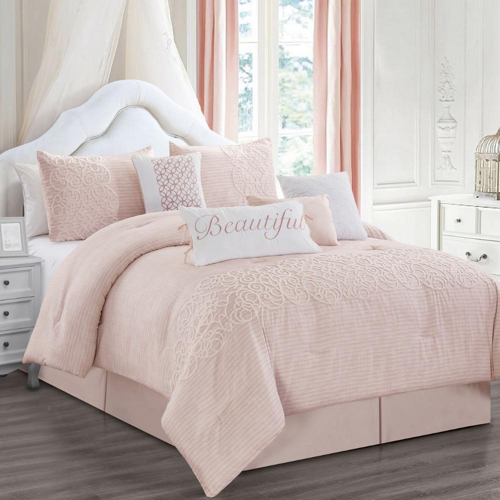 Free 2 Day Shipping Buy 8 Piece Teresa Blush Comforter Set At Walmart Com Luxury Comforter Sets King Comforter Sets Comforter Sets