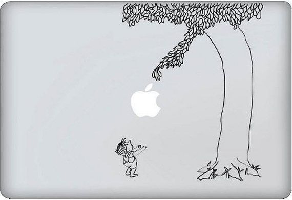 """Shel Silverstein Wall Decal: I Don't Own A Macbook (just A 27"""" IMac) But I Want One"""