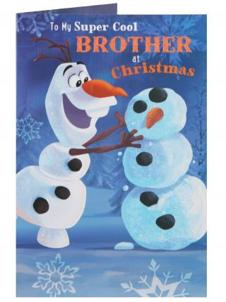 Disney Frozen Olaf Super Cool Brother Christmas Card - Christmas ...