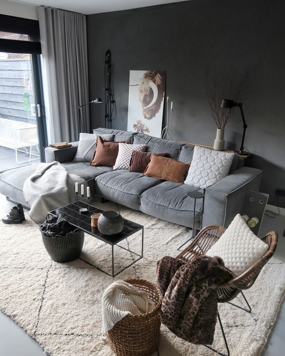 Cozy home decor, living room decoration ideas, modern interior design, modern home decor #homedecor #livingroomdecor #warmlivingroom #livingroomideas
