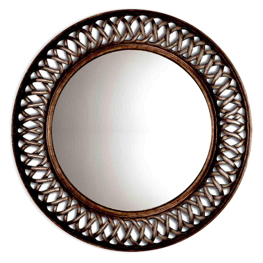 Style Selections 30 In X 30 In Oil Rubbed Bronze Polished Round Framed French Wall Mirror Rustic Wall Mirrors Wall Mirrors Entryway Black Wall Mirror