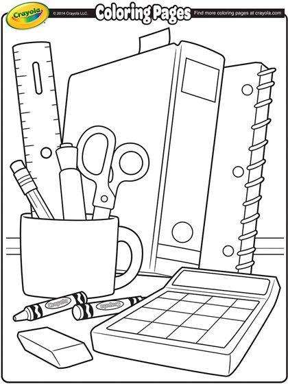 back to school coloring page  schule malvorlagen