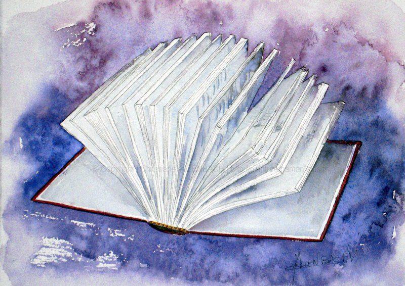 Christiane Allenbach Aquarelle Livre Ouvert Inspirations
