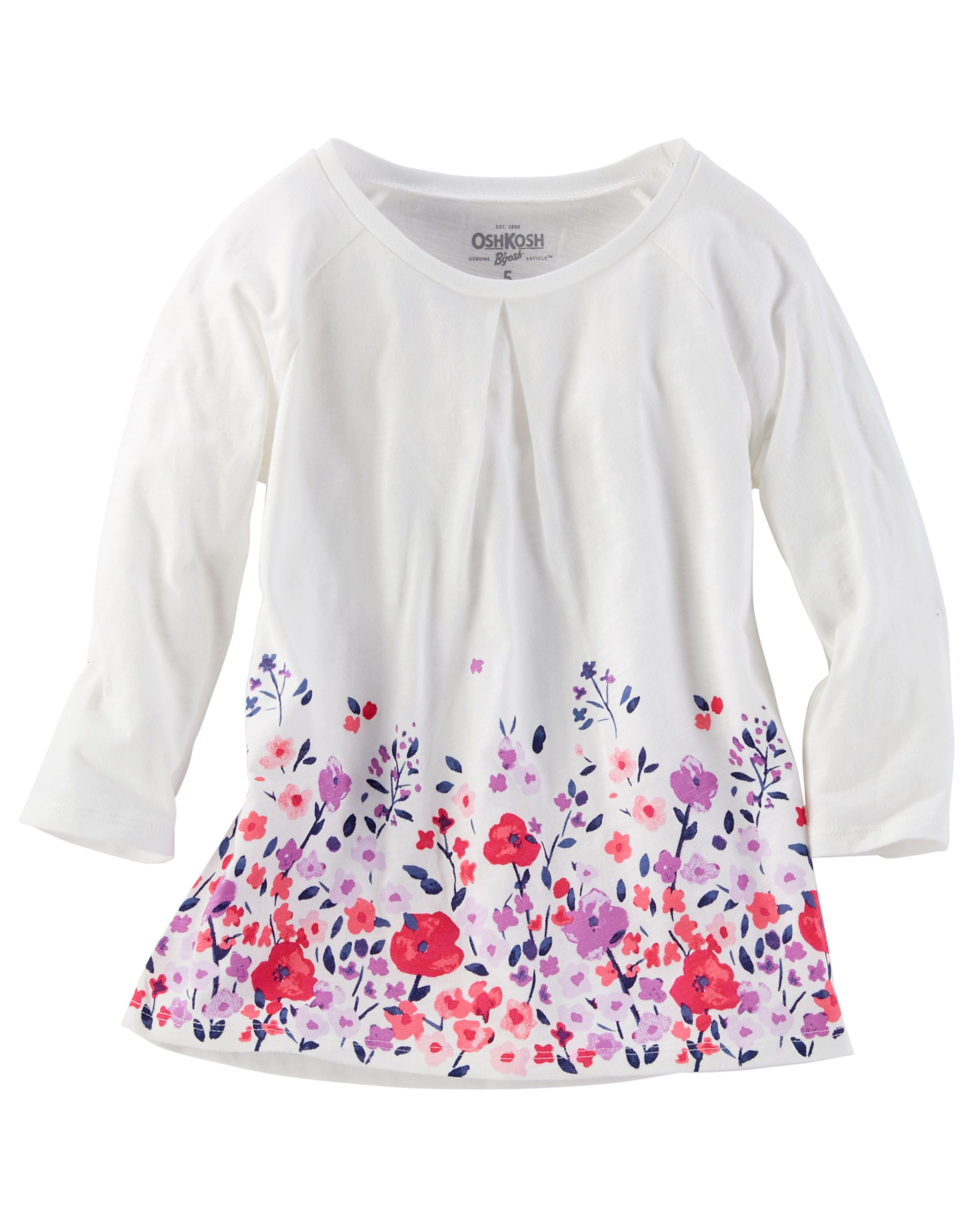 floral border print top floral border kids girls and babies clothes