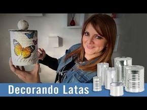Decorando Latas con Servilletas :: Chuladas Creativas - YouTube