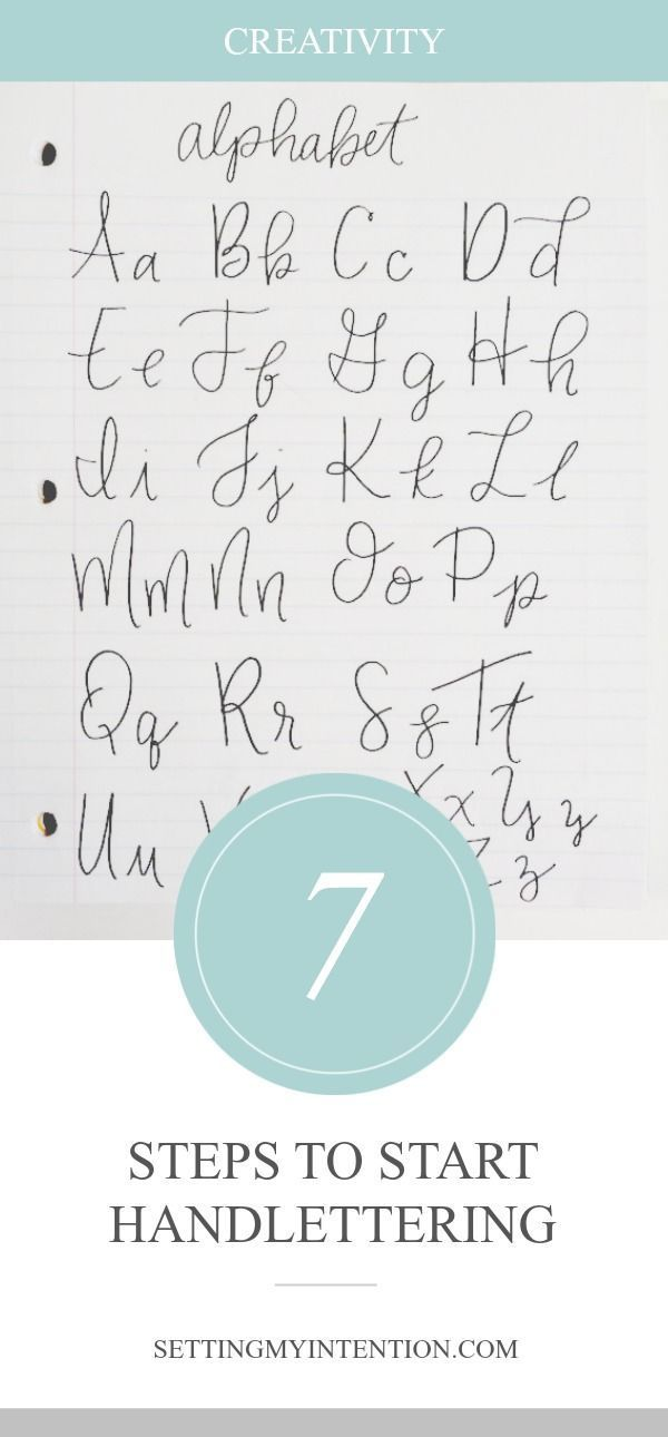 Photo of 7 Steps to Start Hand Lettering | Setting My Intention