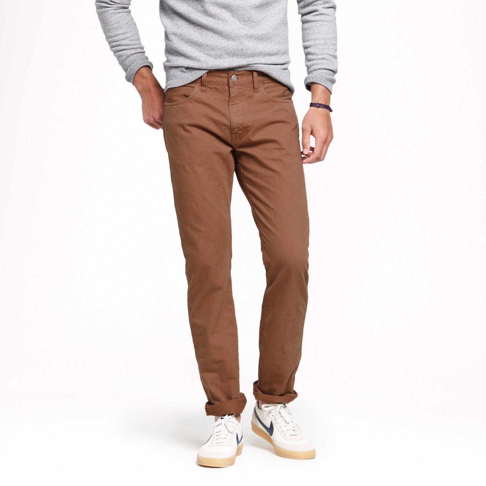 293753a15fdfed J.Crew Skinny Jeans Mens 770 Slim Fit Garment-Dyed Low Rise Cotton Denim 29  x 30