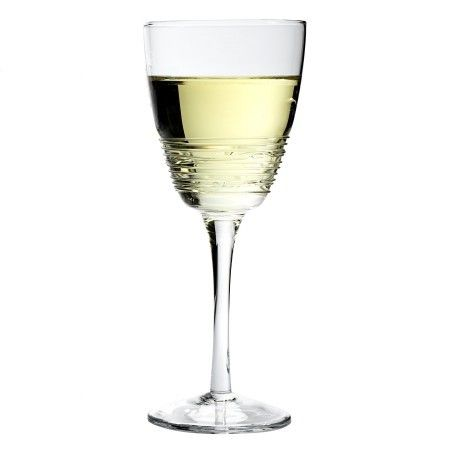 This glass is handcrafted from high-quality glass, bringing a casual elegance to your table or party. Made in the USA, it features a swirl design that is hand-applied to the glass, making it a unique work of art.
