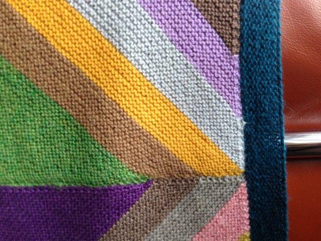 Photo of Håndarbeiden » Mitt favorittstrikketeppe II DIY strikking teppe restegarn, kni…