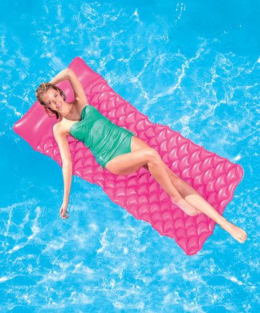 Love this Pink Float & Roll Inflatable Pool Mat on #zulily! #zulilyfinds