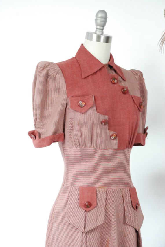 Vintage 1930s Dress RARE Incredible FOGA Two Tone by FabGabs