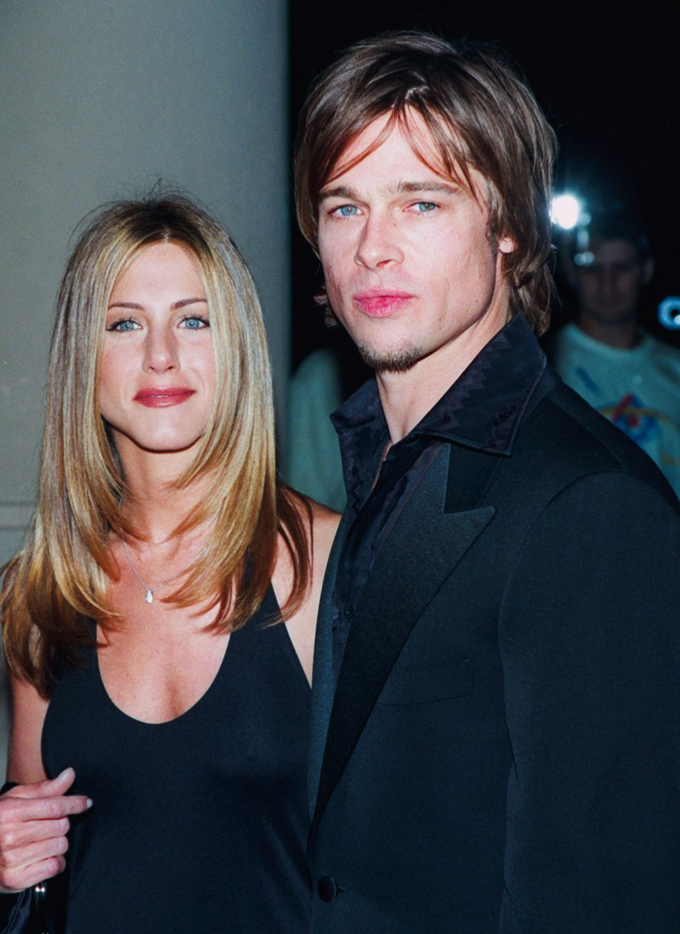 """Relive Brad Pitt and Jennifer Aniston's Romance, From the '90s to Their  """"Flirtatious"""" Current Relationship in 2021 