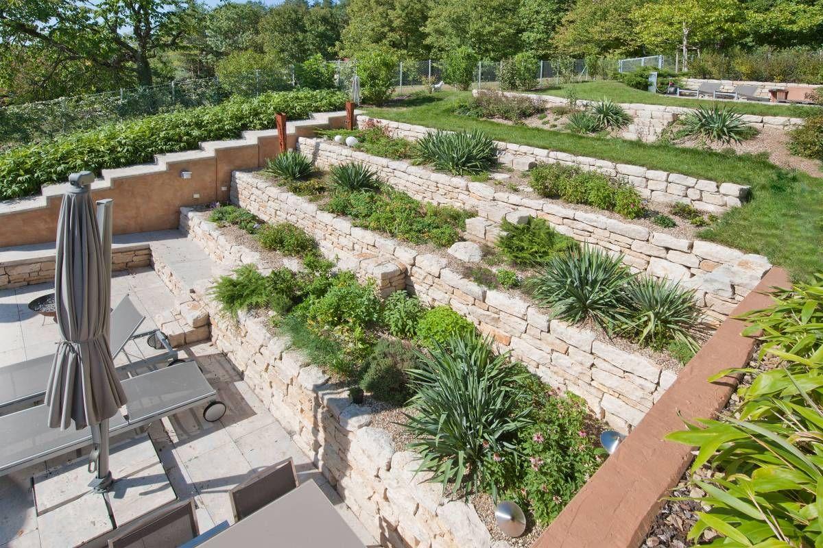 Bildergebnis für terrassierung garten   Gartengestaltung ...
