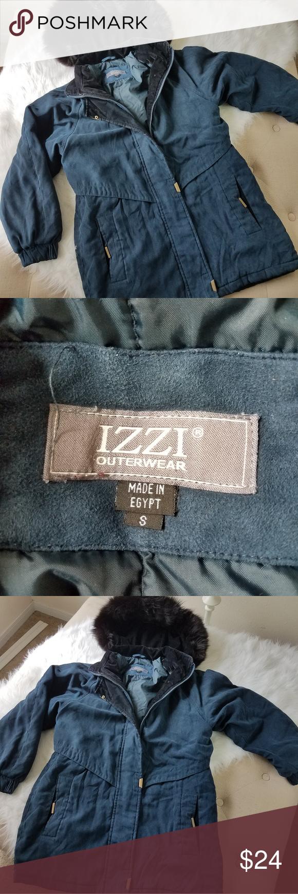 4 13 Sale Izzi Fur Hood Coat Blue Black Fur Hood Coat Fur Hood Clothes Design [ 1740 x 580 Pixel ]