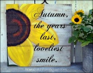 sunflower painting Autumn Fall sign
