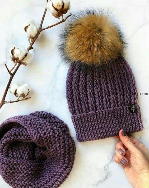 Modèles de bonnet écharpe en tricot – mimuu.com   – EL ÖRGÜSÜ