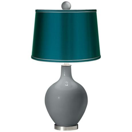 Software Satin Teal Ovo Table Lamp With Color Finial X1363 1c123 Y8834 2w297 Lamps Plus Purple Table Lamp Lamp Lamps Plus