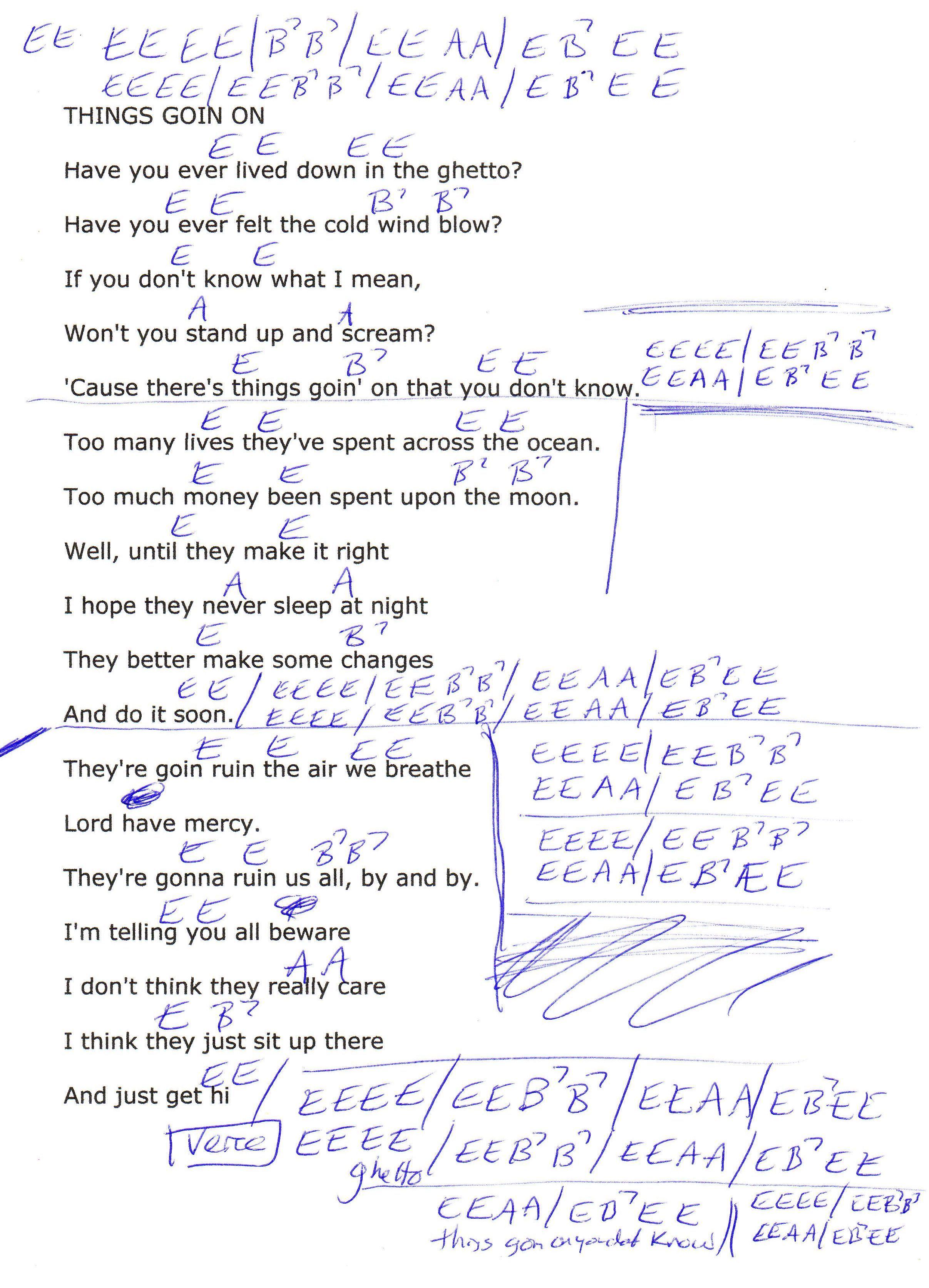 Things Goin On Lynyrd Skynyrd Guitar Chord Chart Guitar Lesson