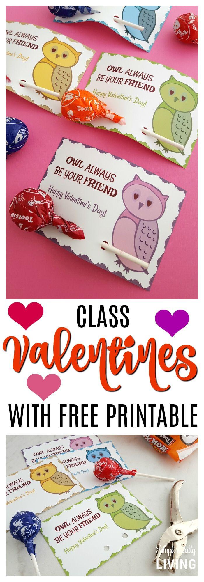 """Owl Always Be Your Friend"" Valentine Printable #owl # ..."
