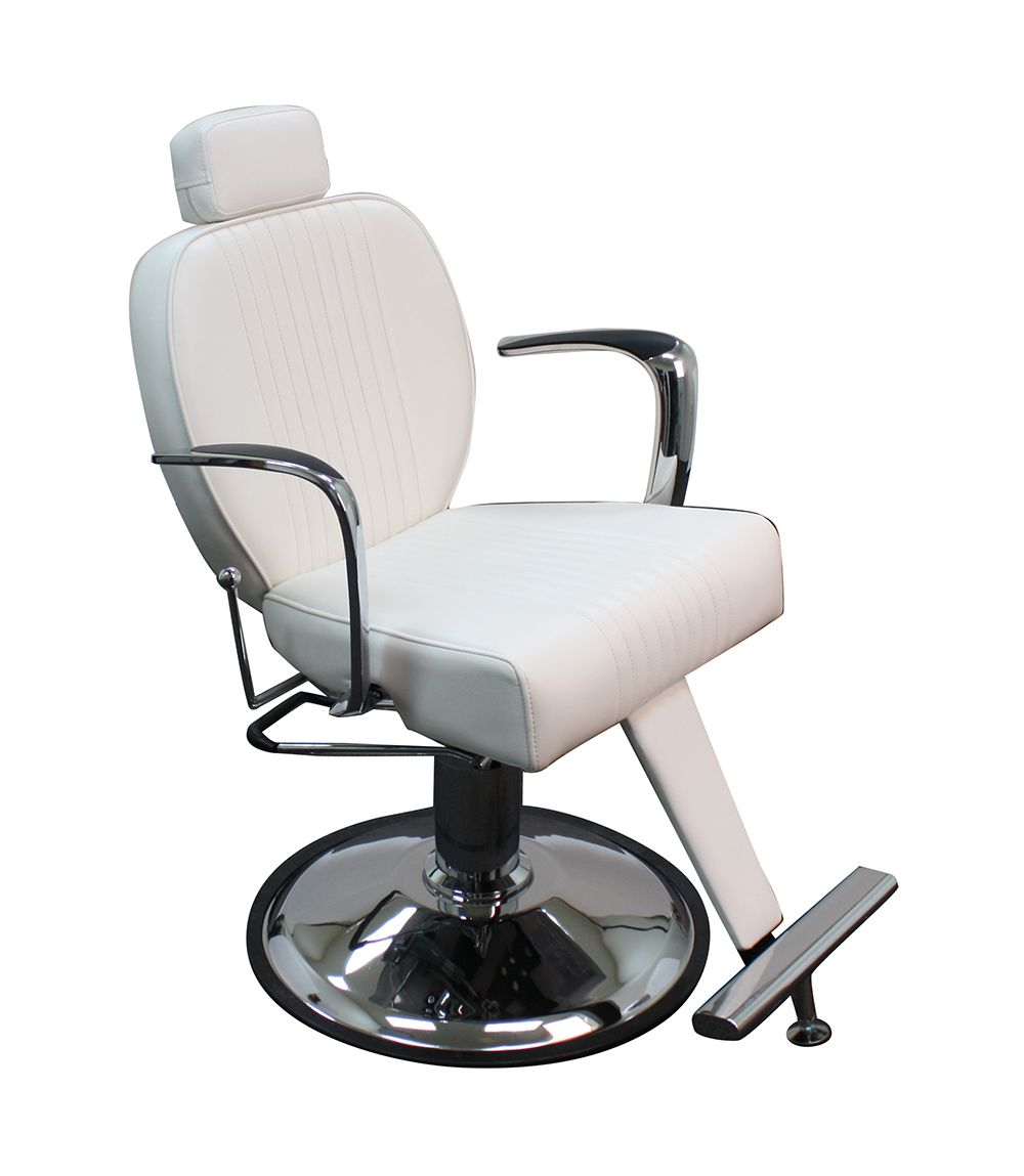 All Purpose Reclining Chair White Vinyl Modern Design