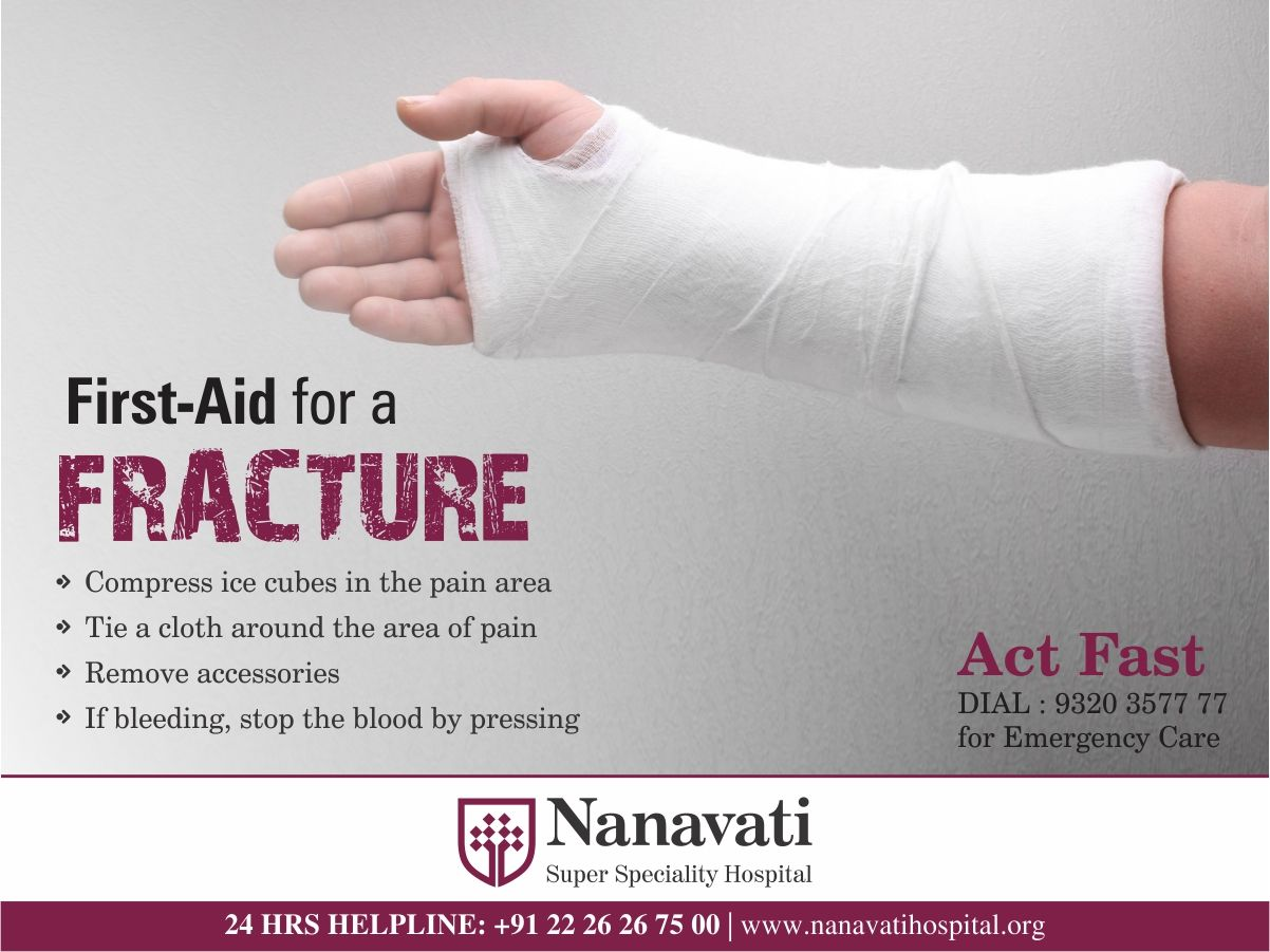 Take the first aid for a fracture and call us immediately