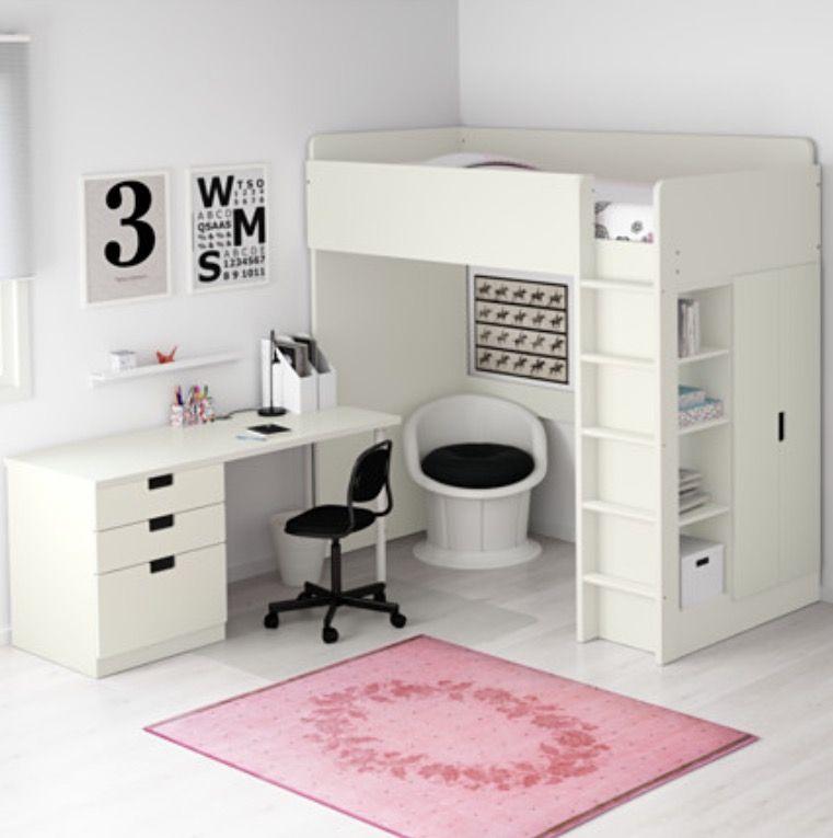 Pink Ikea Stuva Loft Bed Ide Kamar Tidur Ranjang Tingkat Kamar Anak