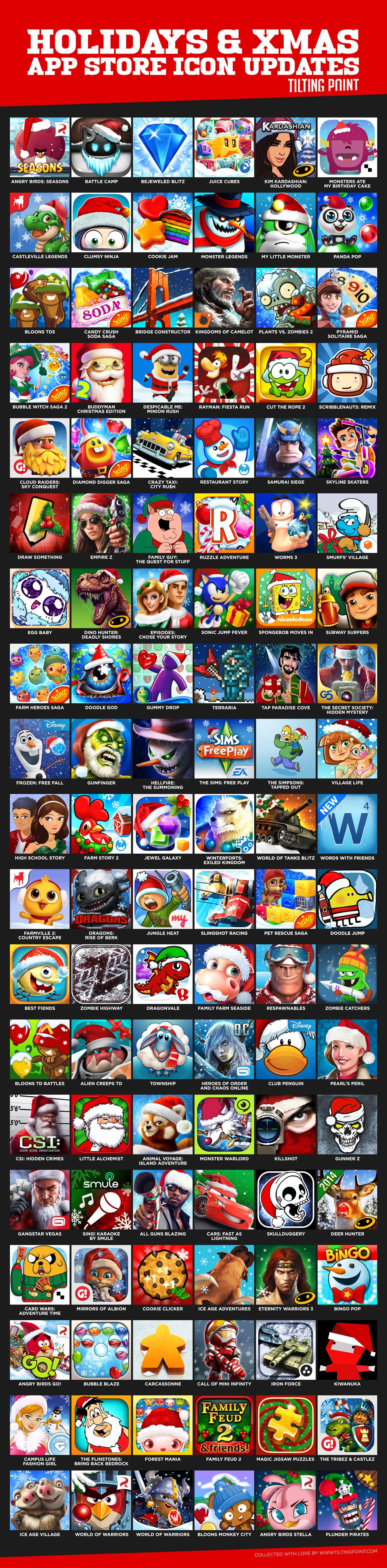 TPChristmasIconUpdates.jpg (1200×4862) App icon, Icon
